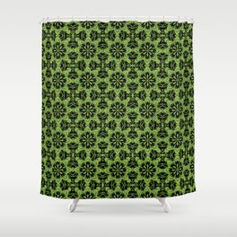 Greenery Floral Shower Curtain