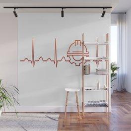Engineer Heartbeat Wall Mural