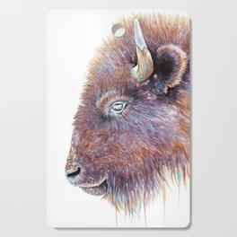 """Spirit of the West"" Buffalo Watercolor Cutting Board"