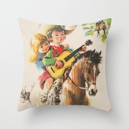 Little Cowboy Throw Pillow