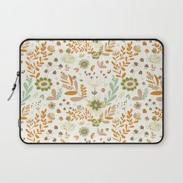Little Creme Garden Flowers Laptop Sleeve