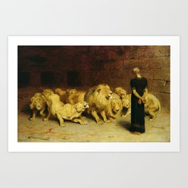 Daniel In The Lions Den 1872 By Briton Riviere Art Print