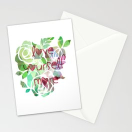 love yourself more Stationery Cards