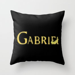 Gabriel with Feather Throw Pillow
