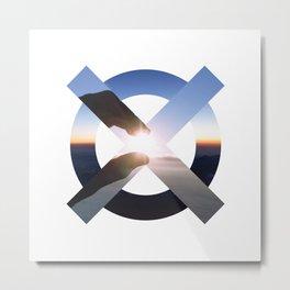 OX[maru-batsu] Metal Print