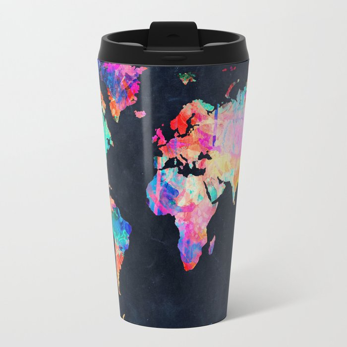 World map travel mug by bekimart society6 world map travel mug sciox Image collections