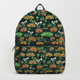 glowing mushrooms at night Backpack