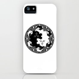 Fractal Taijitu iPhone Case