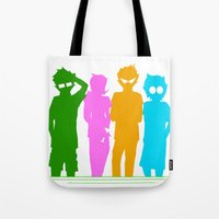 homestuck Tote Bags featuring Homestuck Alpha Kids by Crimsonreaper67