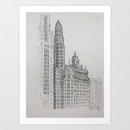 Chicago - Mather and London Guarantee Art Print