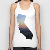 california Tank Tops featuring California by jamester42