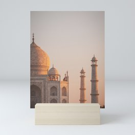 Taj Mahal At Sunset Mini Art Print