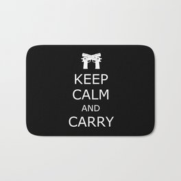 Keep Calm and Carry Bath Mat