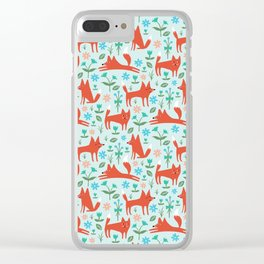 Fox Trot Clear iPhone Case