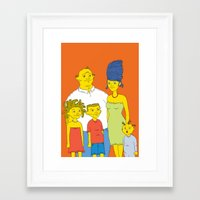 simpsons Framed Art Prints featuring Los Simpsons by Matias Lucena