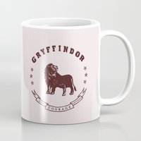 gryffindor Mugs featuring Gryffindor House by Shelby Ticsay