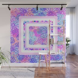 Boxed Flowers Wall Mural