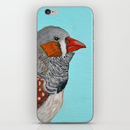 Zebra Finch Portrait iPhone Skin