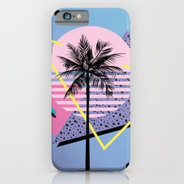 Memphis pattern 46 - 80s / 90s Retro / Palm Tree iPhone Case