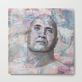 Dwayne The Rock Johnson - Blood, Sweat And Respect Metal Print