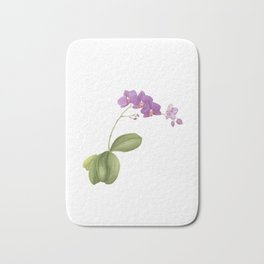 Flowering purple phalaenopsis orchid Bath Mat