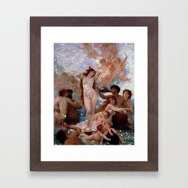 Glitter Girl Framed Art Print