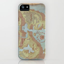 Super Mario World Map (Vintage Style) iPhone Case