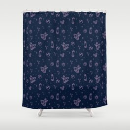 Sparkly Crystals Shower Curtain