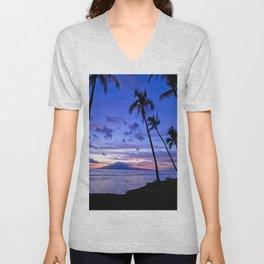 BEACH AND PALM TREES Unisex V-Neck