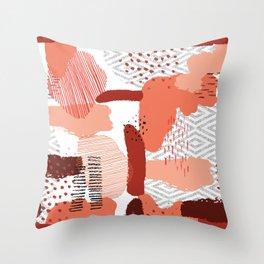 Canyon Clay Throw Pillow