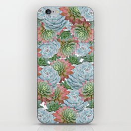 Succulents Pattern #2 #GreenVibes #decor #art #society6 iPhone Skin