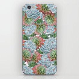 Succulents Pattern #2 #GreenVibes #decor #art #society6 iPhone Skin