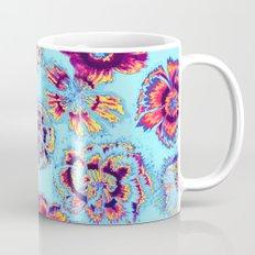flowers on turquoise Mug