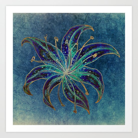Blue Lily Art Print