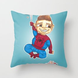 Hanging with Spidey Throw Pillow
