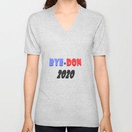 Bye-Don 2020 Text design  Unisex V-Neck