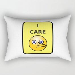 I Care Rectangular Pillow