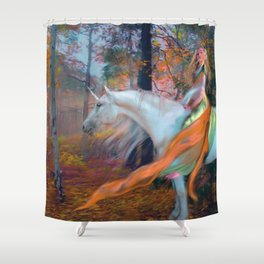 En el Bosque de los Susurros Shower Curtain