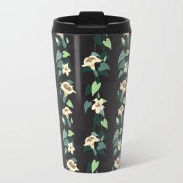 Moonflower vine pattern Travel Mug