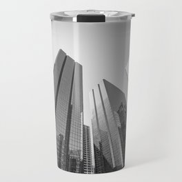 Calgary downtown Skyline in monochrome Travel Mug