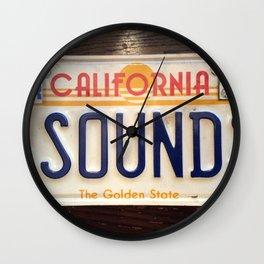 4 sounds California Wall Clock