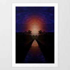 Float with the dream and find a new place Art Print