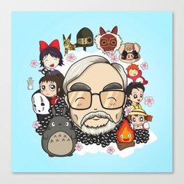 Ghibli, Hayao Miyazaki and friends Canvas Print