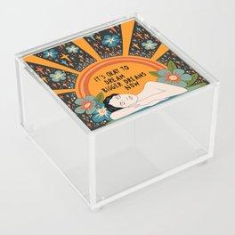Dreaming bigger dreams Acrylic Box