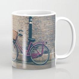 maroon bicycle in Cambridge print Coffee Mug