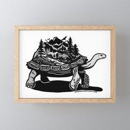 World Tortoise Framed Mini Art Print