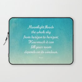 Moonlight Floods the Whole Sky - Beautiful Quote by Rumi Laptop Sleeve