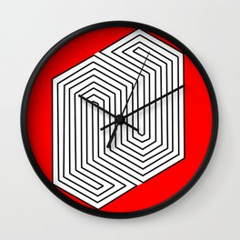 Three Dimentional Effect Wall Clock