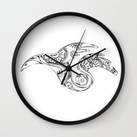 mother of dragons Wall Clocks featuring dragons by AnastasiyaCemetery