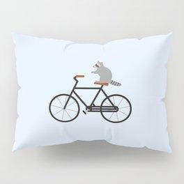Raccoon Riding Bike Pillow Sham